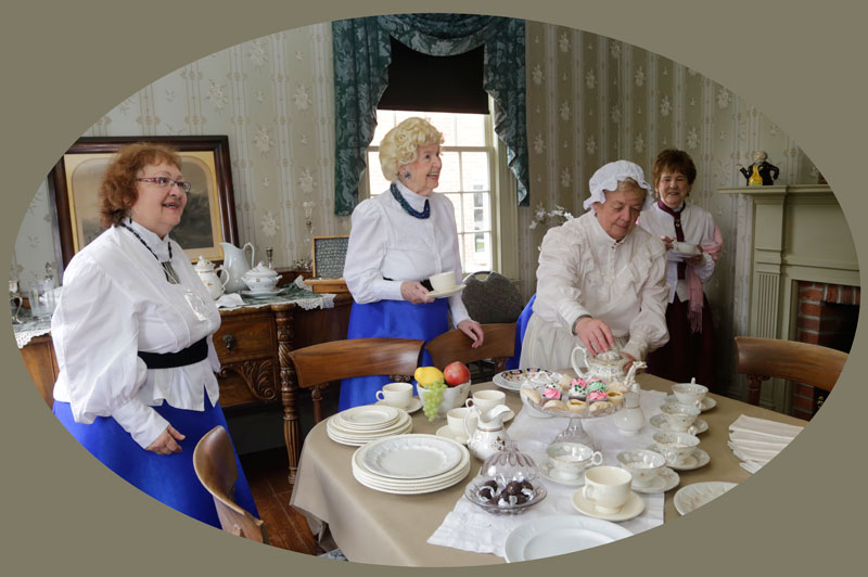 Greeting Visitors to Lynde House Museum
