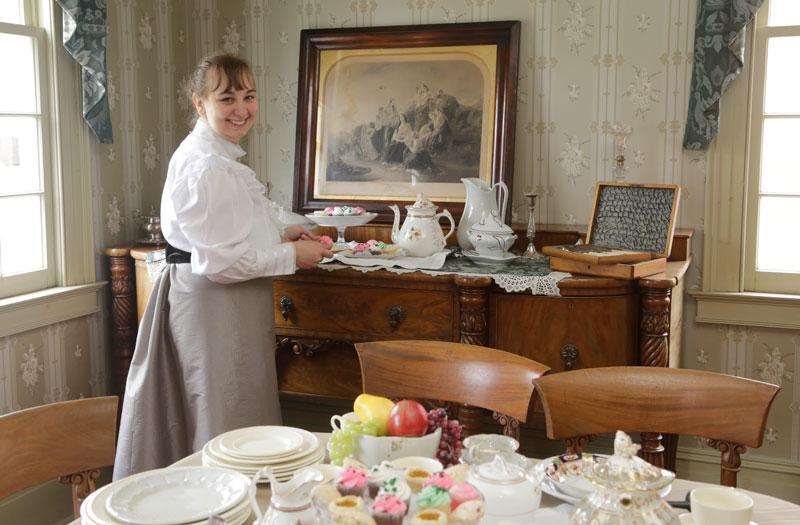 Tea in Dining Room